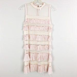 Free People | Ruffled Pink Boho Dress - M8